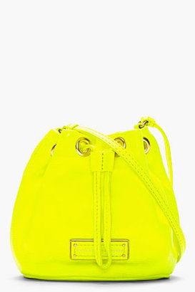 Marc by Marc Jacobs Mini Neon Yellow Leather Too Hot To Handle Drawstring Bag