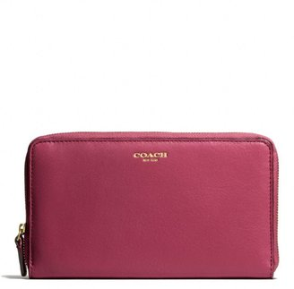 Coach Legacy Continental Zip Wallet In Leather