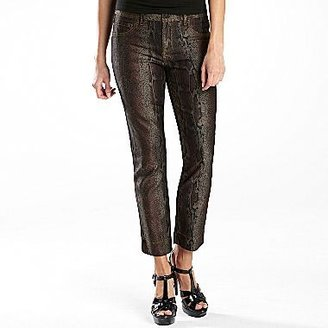 JCPenney a.n.a® Snake-Print Skinny Ankle Pants - Petite