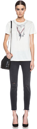 J Brand Mid-Rise Crop with Raw Hem Jean in Merci