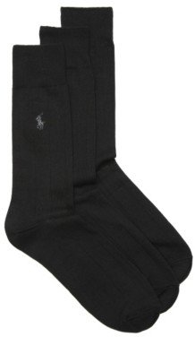 Polo Ralph Lauren Wide Rib Mens Dress Socks - 3 Pack