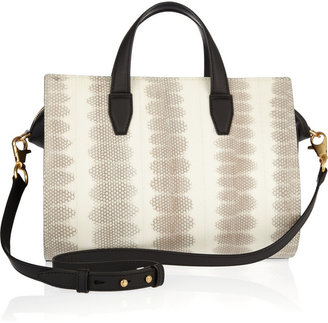 Alexander Wang Pelican snake and leather satchel