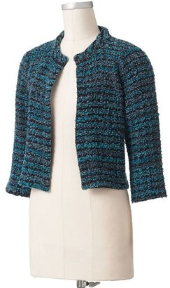 Apt. 9 lurex crop boucle sweater jacket
