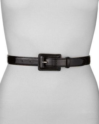 "Neiman Marcus 1"" Patent Leather Belt, Black"