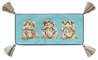Tory Burch Monkey See Needlepoint Pillow
