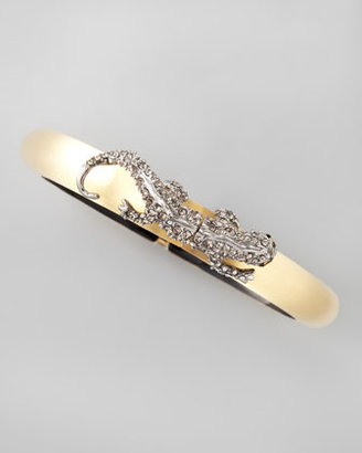 Alexis Bittar Salamander Lucite Bracelet, Golden