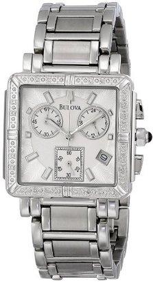 Bulova Women's 96R000 Diamond Accented Chronograph Watch