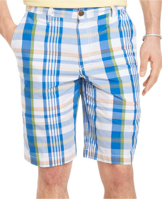 Izod Poplin Plaid Shorts