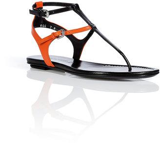 Ralph Lauren Black/Cruise Orange Leather Sandals