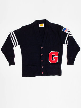 American Apparel Vintage World Gymnastics Champions Varsity Cardigan Sweater