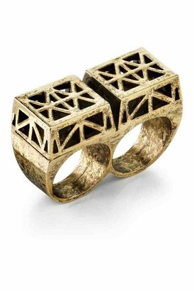 Low Luv x Erin Wasson by Erin Wasson Double Finger Ring in Gold