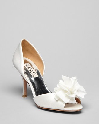 Badgley Mischka Open Toe Evening Pumps - Agne High Heel