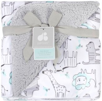 Just Born Animal Velboa Blanket