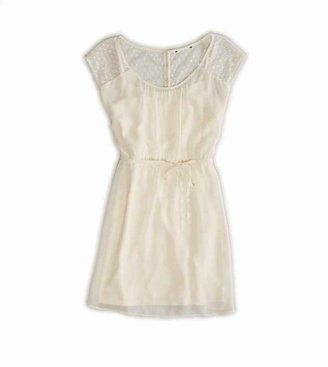 American Eagle AE Mesh Dot Chiffon Dress