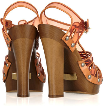 Marc Jacobs Wooden-heeled plastic and leather sandals