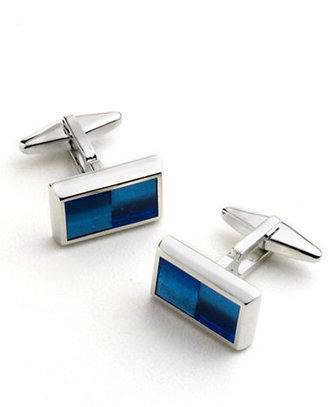 Kenneth Cole NEW YORK Rectangular Enamel Cuff Links