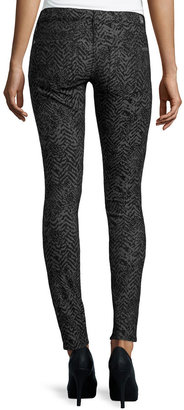 7 For All Mankind Gwenevere Chevron Skinny Jeans, Black/Gray