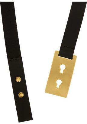 Marni Elasticated leather waist belt