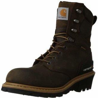 "Carhartt Men's 8"" Waterproof Breathable Soft Toe Logger Boot CML8169"