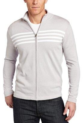 Spring+Mercer Men's Full Zip Chest Stripe Hoodie