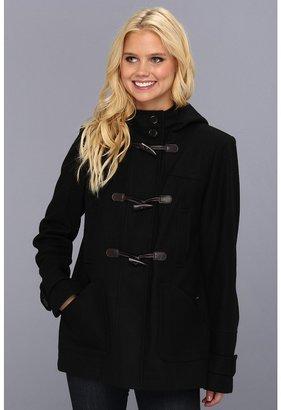 Tommy Hilfiger Wool Toggle Coat (Black) - Apparel