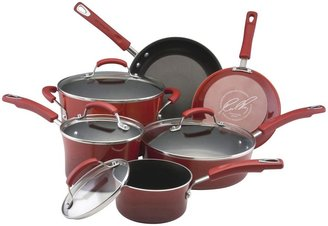 Rachael Ray Porcelain II Nonstick Cookware Set 10pc-Red