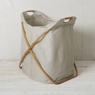 west elm Bamboo Laundry Hamper - Double
