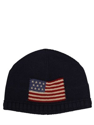 Ralph Lauren American Flag Knitted Cotton Hat