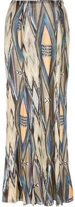 Jo No Fui long tribal print skirt