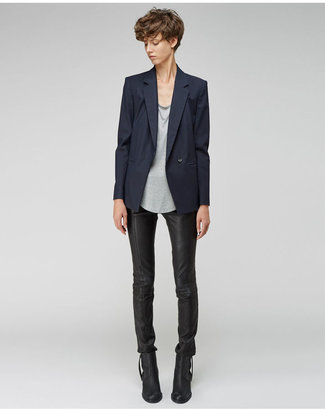 Helmut Lang cropped stovepipe leather pants