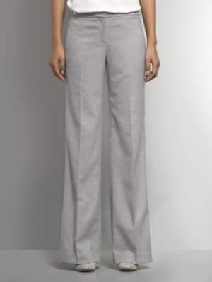 New York & Co. The 7th Avenue Wide Leg Pant - Light Heather Grey
