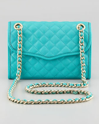 Rebecca Minkoff Quilted Affair Mini Shoulder Bag, Sea Green