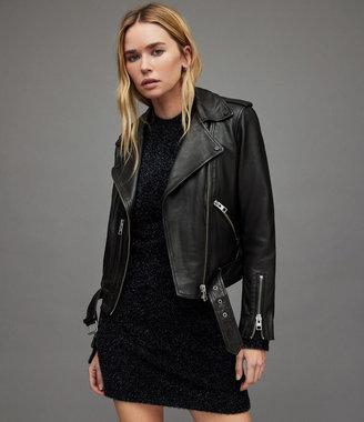 Balfern Leather Biker Jacket $560 thestylecure.com