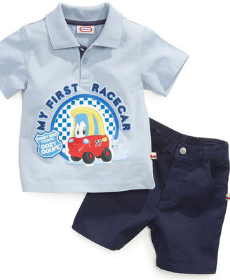 Little Tikes Kids Set, Little Boys Toddler 2-Piece Polo and Short Set