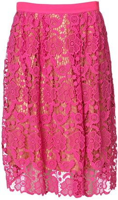 By Malene Birger Neveah Pink Lace Skirt