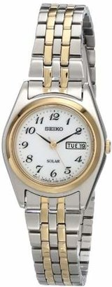 Seiko Women's SUT116 Stainless Steel Two-Tone Watch $205 thestylecure.com