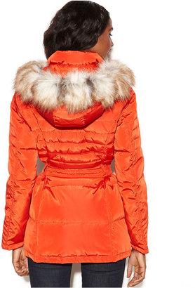 Jones New York Hooded Faux-Fur-Trim Puffer Parka Coat