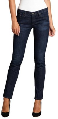 AG Adriano Goldschmied blue stretch denim 'The Stilt' slim leg jeans