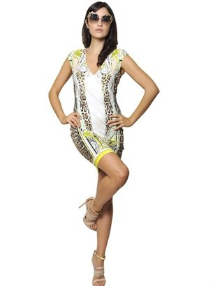 Roberto Cavalli Printed Viscose Jersey Dress