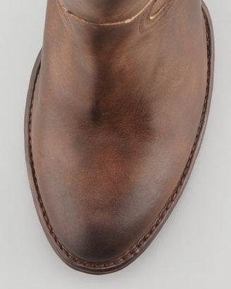 Frye Angela Short Modified Western Boot, Brown