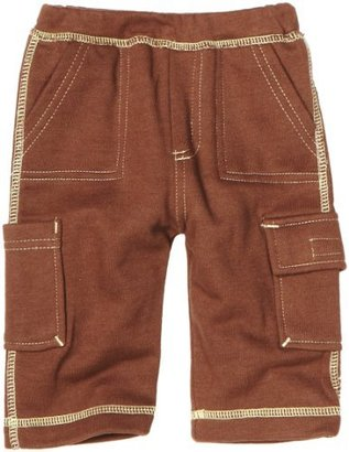 Baby Soy Unisex-Baby Newborn Soft Cargo Pants, Chocolate, 12-18 Months