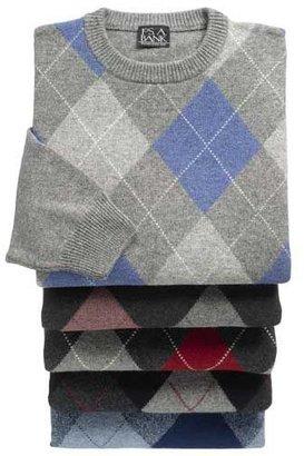 Jos. A. Bank Lambswool Argyle Crewneck Sweater
