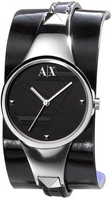 Armani Exchange layered-strap watch