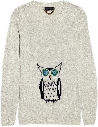 Burberry Owl instarsia cashmere sweater