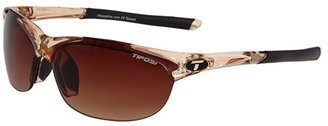 Tifosi Optics Wisptm Interchangeable (Crystal Brown/Brown Gradient/AC Red/Clear Lens) Sport Sunglasses