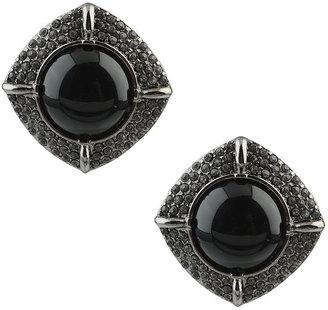 Forever 21 Encrusted Frame Earrings