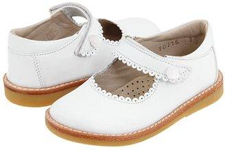 Elephantito Mary Jane (Toddler/Little Kid) (White) Girl's Shoes