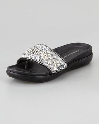 Donald J Pliner Hana Jeweled Flat Thong Sandal