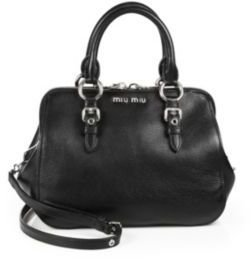 Miu Miu Madras Top-Handle Bowling Bag