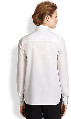 Stella McCartney Collared Cotton Poplin Shirt